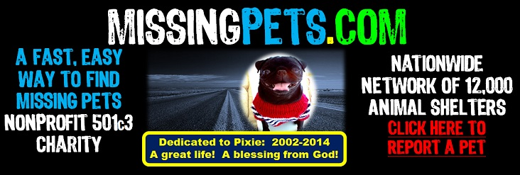 """Missing Pets Logo - Missing Pets Web Site - Your Guide to Lost and Found Dogs, Cats, and Other Pets"""